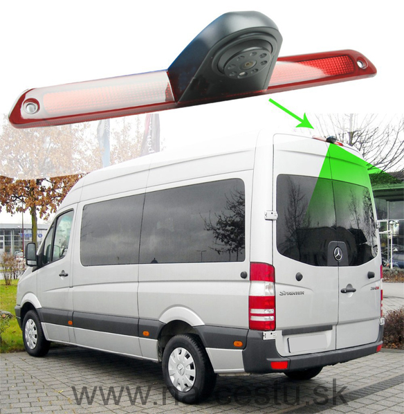 Kamera 4PIN PAL pre Mercedes Sprinter, VW Crafter